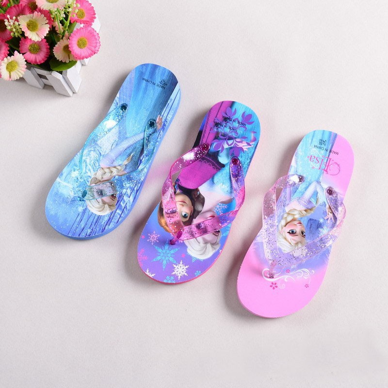 2019 New Baby Shoes Summer Spring Children Sandals Flip Flops Girl Cartoon Elsa Shoes Boys Kids Beach Wear Slippers For Girls