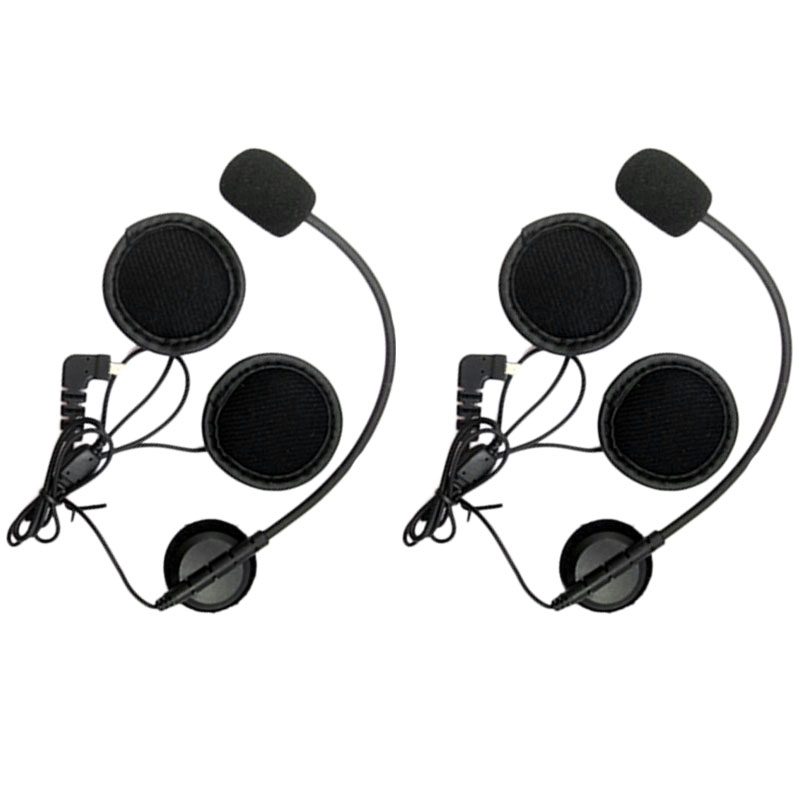 2Pcs Mini 8 Pin Earpiece Microphone Speaker for BT-S1 BT-<font><b>S2</b></font>/S3 Motorcycle <font><b>Bluetooth</b></font> Intercom Interphone Headset for Open Helmets image