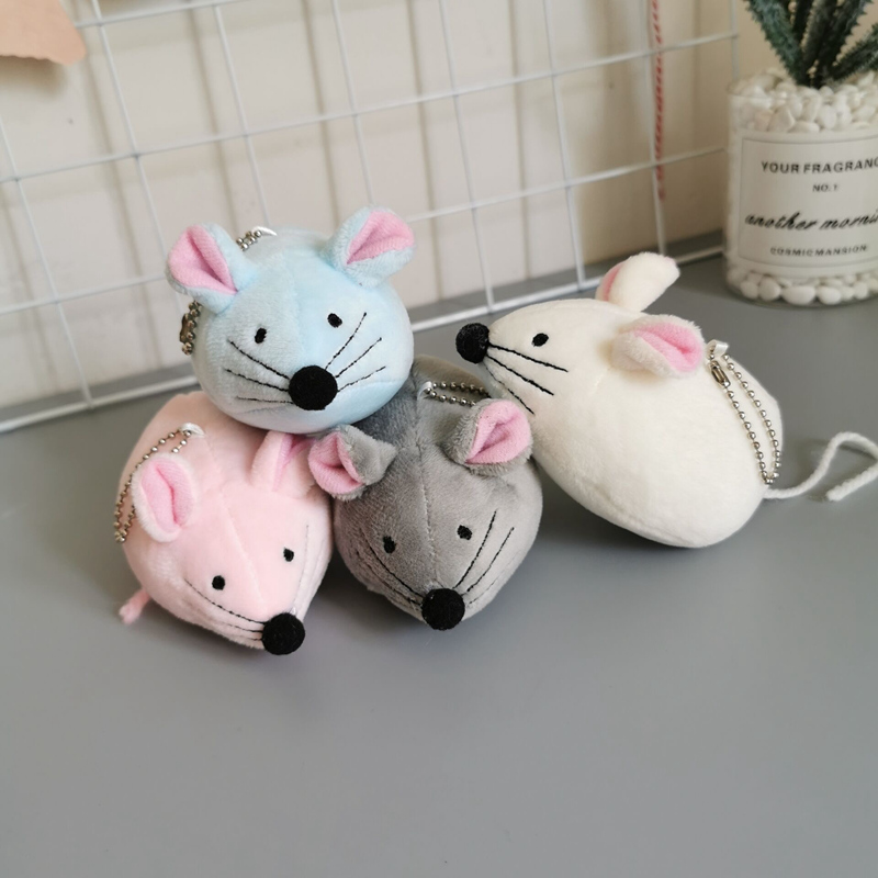 11cm Cute Simulation Plush Toys Mouse Stuffed Animals Children Dolls Small Pendant Keychain Creative Hamster Valentine Gift