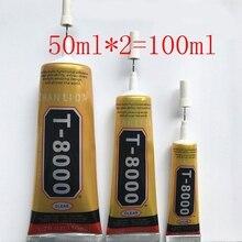 2Pcs 50ml תעשייתי חוזק דבק, t8000 ברור נוזל דבק עבור טלפון מגע מסך DIY Jewerly קרפט ריינסטון מסגרת דבק