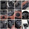 カースタイリング内装ボタンパネルフレーム装飾車カバーためのトリムbmw X5 X6 F15 F16 炭素繊維の自動車アクセサリー