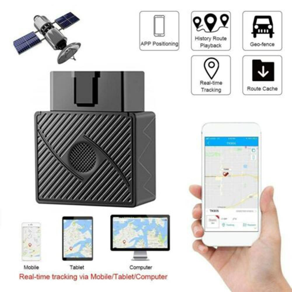 Obd / Obd2 Gsm Car Gps Tracker Gprs Lbs / Gps Position Tracking Locator Real Time Tracking Geo -Fence Overspeed Alarm