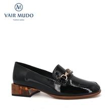 VAIR MUDO 2020 Mode Frauen Pumpt Schuhe Damen Schwarz Starke Ferse Frühling Herbst Echtes Leder Schuhe Frauen Runde Büro D125