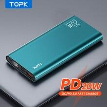 """TOPK I1007P כוח בנק 10000 mah פ""""ד 20W מטען נייד Powerbank 10000 mah חיצוני סוללה תשלום מהיר עבור iPhone xiaomi Mi 9"""