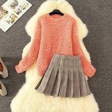 Женский трикотажный свободный свитер с блестками и шерстяная