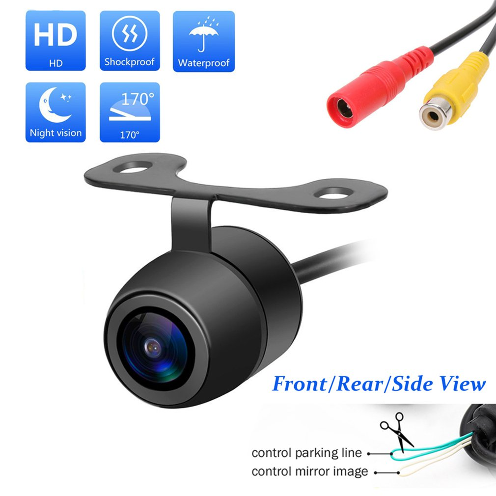 lowest price New 170 Degree Hd Camera Cmos Car Rear   Front   Side View Reversing Camera Waterproof Car Rear Hd Back Pull Camera