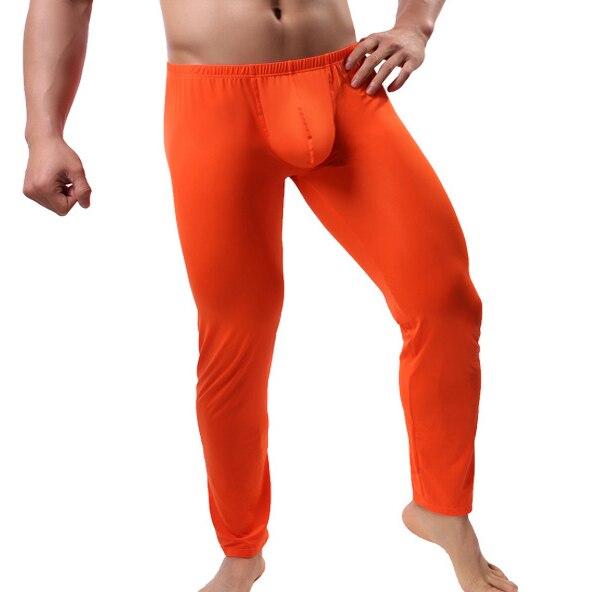 Mens Pijama Hombre Big Penis Pouch Ice Silk Sleep Bottoms Pajama Lounge Pants Ultra-thin Pyjama Homme Sleepwear Pajama Trousers