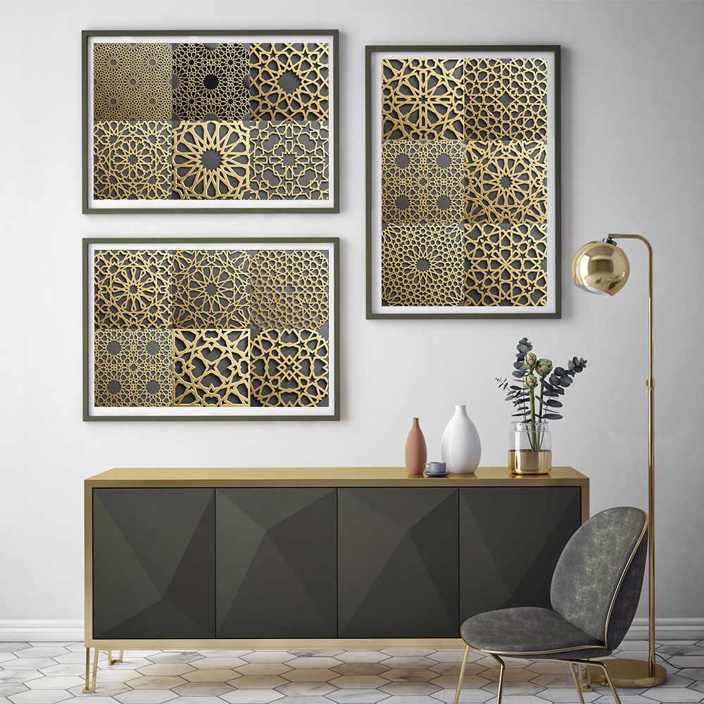 10/15/20/30Cm Gaya Muslim Strip Ubin Stiker Dinding Dapur Tangga Pintu Dekorasi Wallpaper peel & Stick Seni Mural