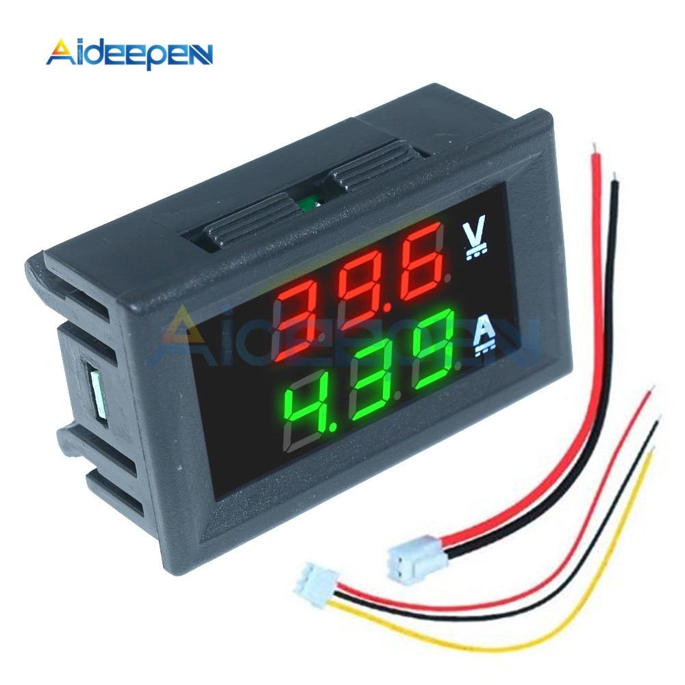 Цифровой вольтметр Амперметр постоянного тока 0-100 в 10 А 50 А 0,56 а дюйма светодиодный дисплей регулятор напряжения Вольт Амперметр тестер дет...