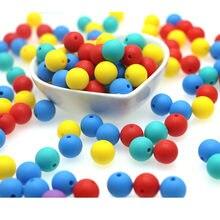 Kovict — Billes de dentition en silicone, perles pour la fabrication de bijoux, produit pour bébés, 50 pièces, 12mm