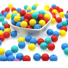 kovict 50pcs Silicone Beads 12mm Round Perle Silicone Dentition Baby Teething Be