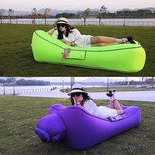 Fast Inflatable Air Sofa Bed Sleeping Chair Inflatable Couch Lazy Relaxing Beach Sofa Lay Bag 2019 Trend Outdoor Furniture стоимость
