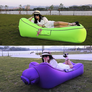 Image 1 - Fast Inflatable Air Sofa Bed Sleeping Chair Inflatable Couch Lazy Relaxing Beach Sofa Lay Bag 2019 Trend Outdoor Furniture