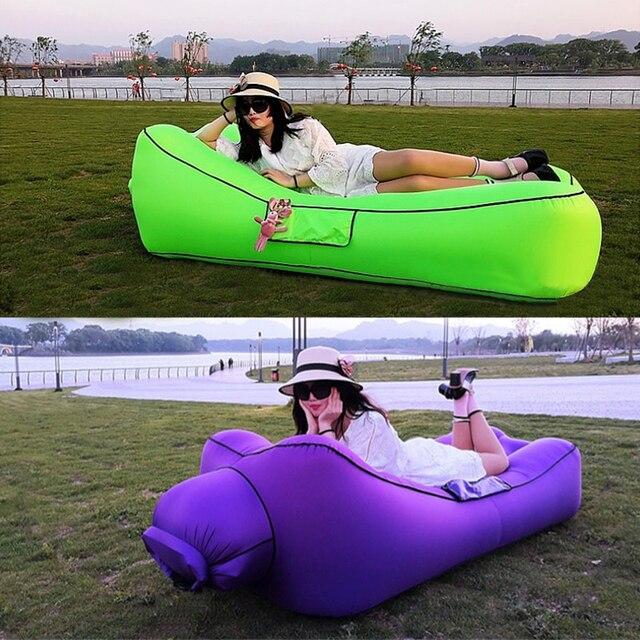 Szybkie pompowanie kanapa dmuchana krzesło do spania nadmuchiwana kanapa leniwy relaks sofa na plażę kanapa nadmuchiwana 2019 Trend meble ogrodowe