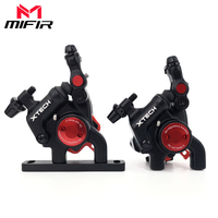 Road Bike Hydraulic Disc Brakes Set Flat Mount Calipers with 160MM Disc Rotor Bicycle Bilateral Cable Road Brake Clamps Oil Disc