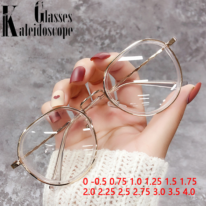 0-0,5 0,75 1,25. 175 2,25 2,5 3,0 fertig Myopie Gläser Männer Frauen Anti Blau Licht Blockieren Metall Rahmen Gold Brillen