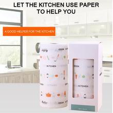 60 шт/рулон чистящие салфетки впитывающая салфетка, одноразовое чистящее полотенце, кухонная ткань для посуды, чистящая ткань, чистящая прокладка
