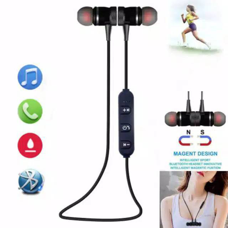 Bluetooth Wireless Sports Headphone SweatProof Ear Hook Earphone Metal Earpiece Stereo music Wireless Headset for smart phone