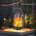 Садовый Солнечный светильник  газонный светильник с пламенем  IP65  водонепроницаемый  для сада  мерцающий светильник с пламенем  настенный с...