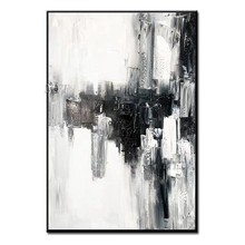 Frameless Handmade Picture Painting Abstract Oil Paintings on Canvas Handmade Colorful Wall Art Modern Art for Home Decor(China)