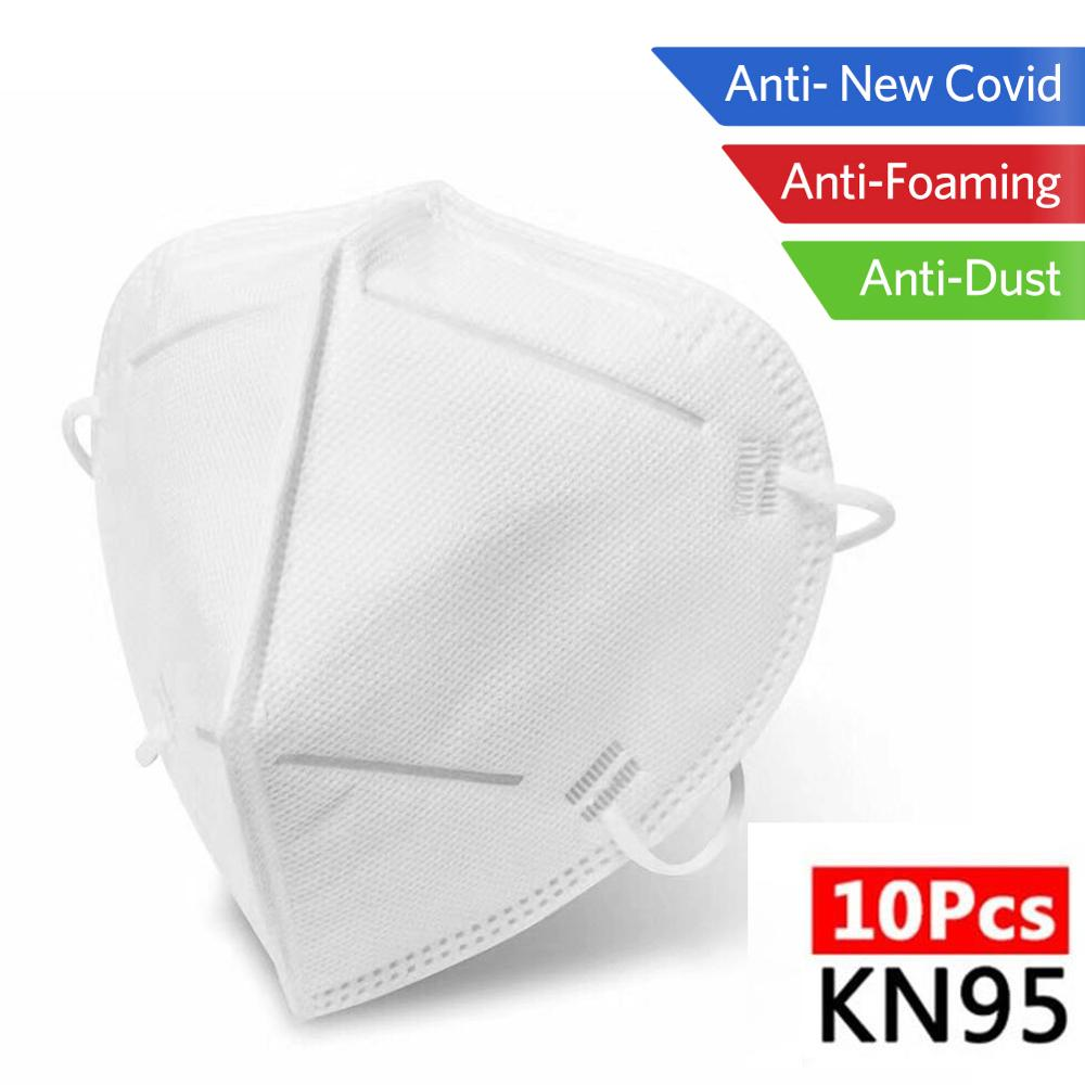 10pcs Reusable KN95 Mask Face Mask N95 Protection FFP1 FFP2 FFP3 Mouth Cover Pm2.5 Dust Masks 4 Layer Filter Mascarillas