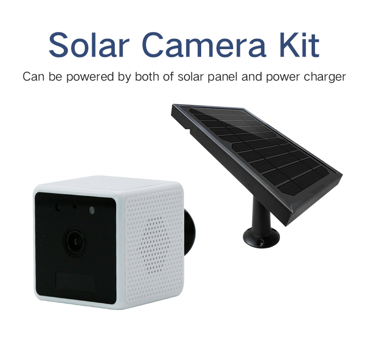 1080P 2.0MP WIFI IP Camera with Solar Panel Waterproof Outdoor Power Charging Security Animal IP Camera with 2 way Audio Surveillance Cameras     - title=