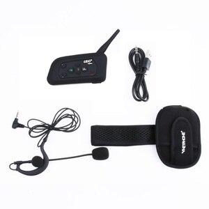 Image 3 - 1 adet futbol hakem interkom kulaklık EJEAS V4C 1200M tam dubleks Bluetooth kulaklık FM kablosuz futbol interkom