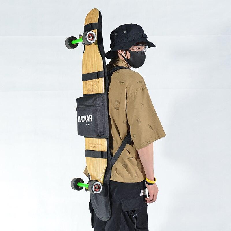 Longboard Skateboard sac à dos réglable Double épaule surf sac à dos accessoires de patinage Durable longue planche à dos
