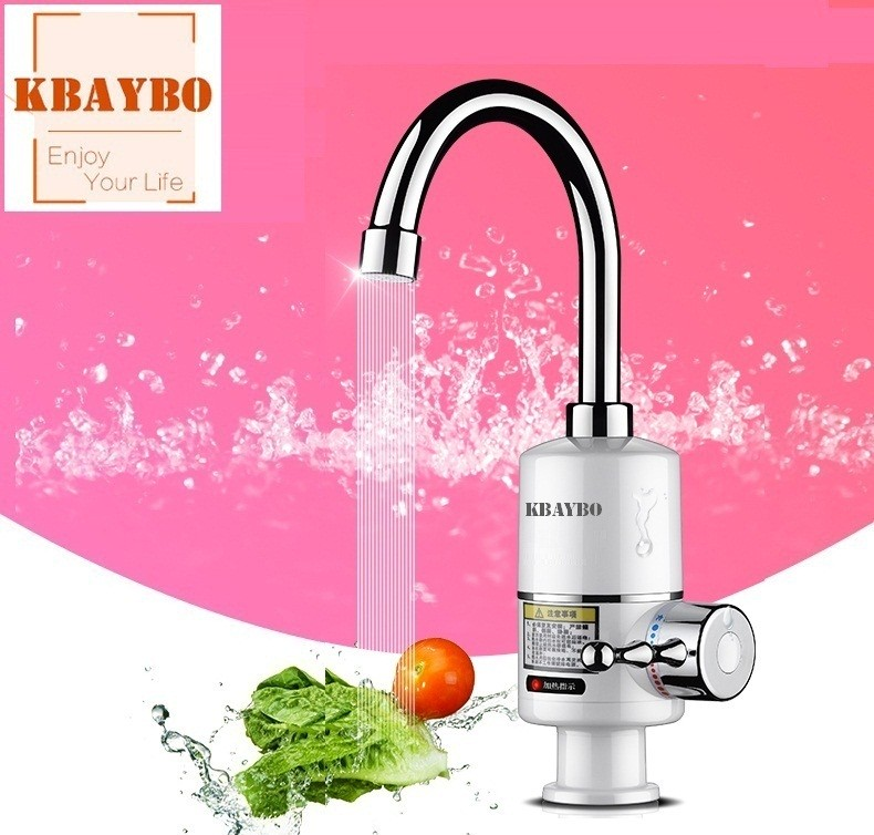 NEWKBO 3000W Tankless Faucet Water Heater Kitchen Electric Faucet Instant 3 Seconds Heating Instant Electric Water Heater Tap