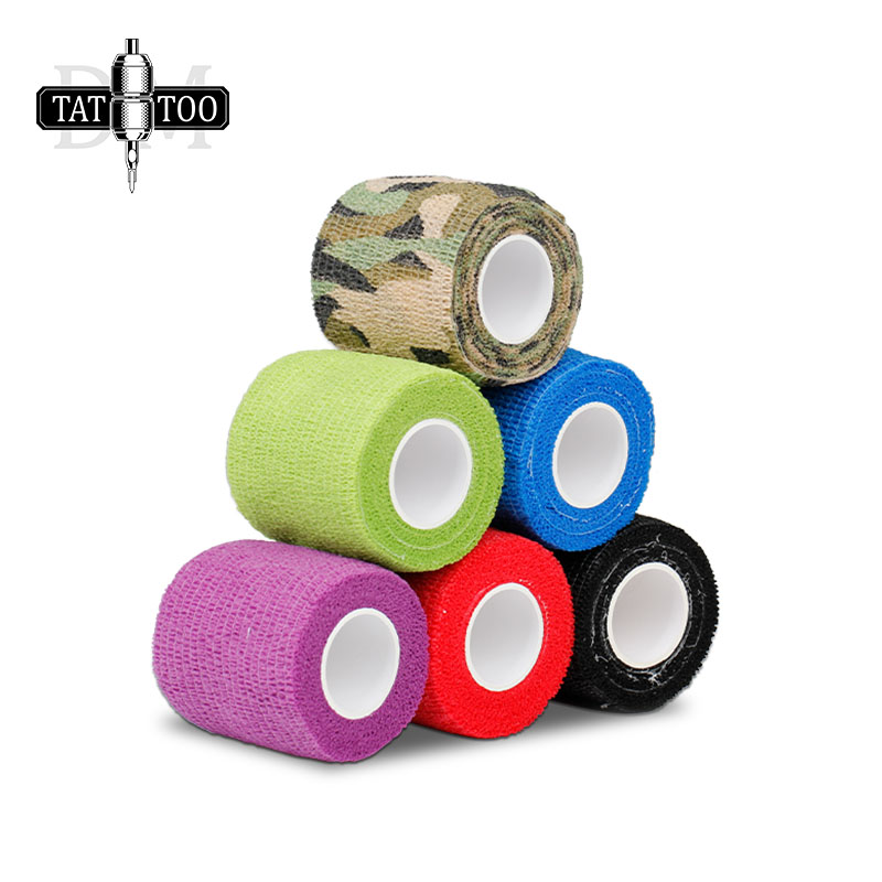 High Quality Tattoo Supplies Cohesive  10pcs Disposable Tattoo Grips Cover Tattoo Bandage for Tattoo Machine