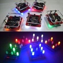 Diy balanço balançado led dados kit com pequeno motor de vibração kits elétricos diy modo de espera ir mostrar