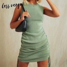 Новое модное женское платье lessverge без рукавов мини однотонное