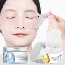 50 pçs máscara de olho ácido hialurônico sob almofadas de remendos de olho reduz círculos escuros sacos remover linhas de olho levantamento firmando cuidados com os olhos
