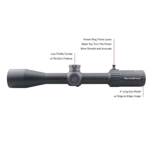 Vector Optics Marksman 4-16x44 FFP Tactical Riflescope 1/10 MIL Rifle Scope 30mm Monotube for Sniper Target Shooting Hunting 3