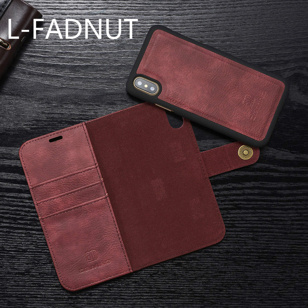 Magnetic Leather Wallet Case For iPhone X Xr Xs Max Flip Purse For iPhone 8 7 6S 6 Plus 5 5S SE 360 Protective Kickstand Cover
