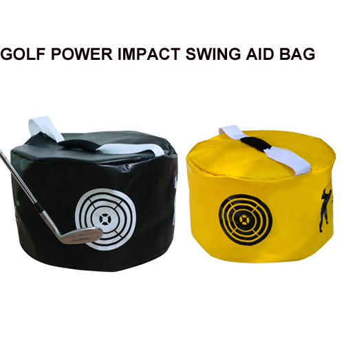 2pcs Golf Power Impact Swing Aid Practice Training Tool Smash Hit Strike Bag Trainer Exercise Package Multi function Golf Training Aids     - title=