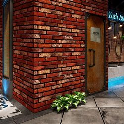 Red brick self-adhesive removable masonry wallpaper texture contact paper peeling and wallpaper vinyl contact paper Anti-rust