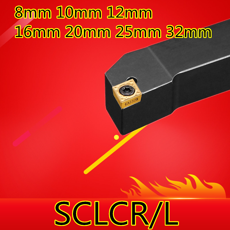 SCLCR0808F06 SCLCR1010H06 SCLCR1212H06/09 SCLCR1616H09 SCLCR2020K09 SCLCR2525M09 SCLCR3232P12 SCLCL Lathe Turning External Tools