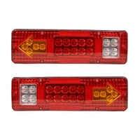 2pcs 12V Led Rear Tail Lights Lamp 5 Function For Trailer Caracan Truck 19Led Trailer Lights LED Stop Lights