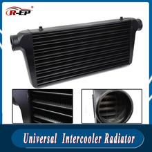 Universele Intercooler Radiator Front Mount Buis-Fin 600*300*76Mm Aluminium Cold Air Intake Radiator Outlet turbo Auto
