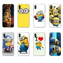 Soft Fashion Case Minions For Huawei Honor 5A 6A 6C 7A 7C 7X 8 8A 8C 8X 9 9X 10 10i 20 Lite Pro(China)