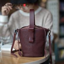 EUMOAN New original leather hand bag retro casual simple sheepskin large capacity Messenger shoulder