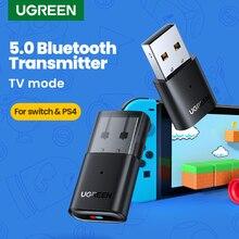 UGREEN USB Bluetooth 5,0 передатчик аудио адаптер для Airpods ПК компьютера PS4 Pro Nintendo переключатель Bluetooth адаптер ТВ режим