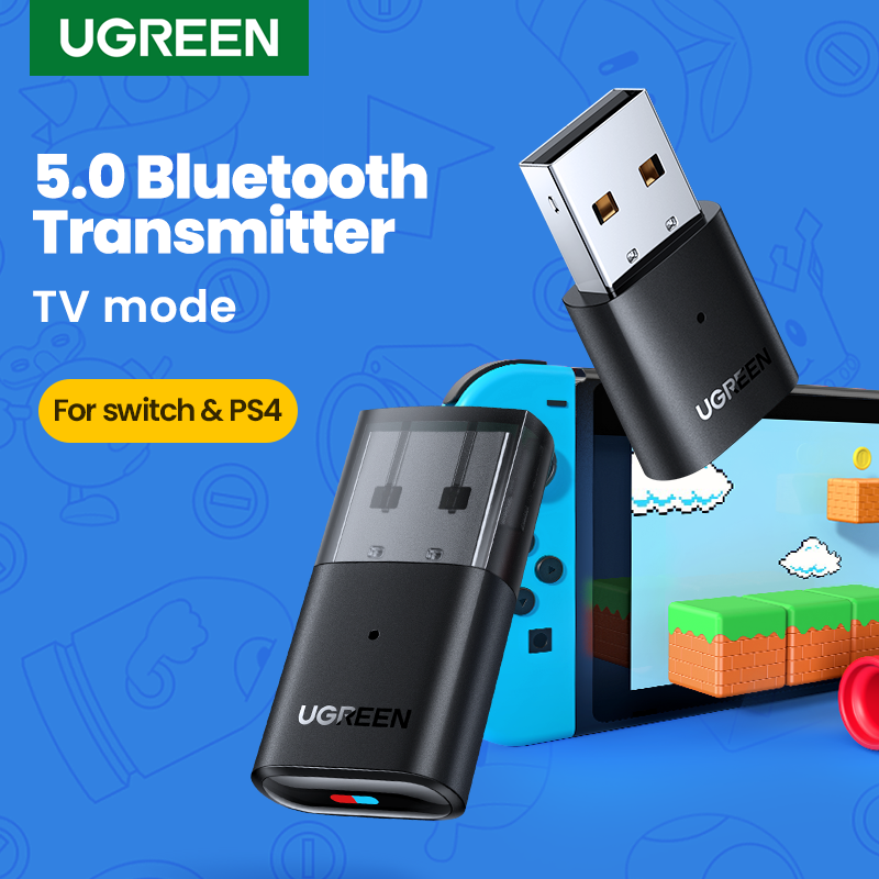 Ugreen usb bluetooth 5.0 transmissor adaptador de áudio para airpods computador pc ps4 pro nintendo interruptor adaptador bluetooth modo tv|Adaptador sem fio| - AliExpress