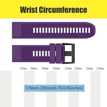 Watch Band Soft Silicone Strap Replacement Watchband for Garmin Fenix 5X Plus Smartwatch @M23