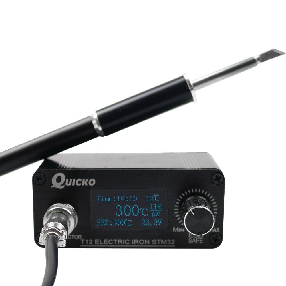OLED STM32 V3.1 MINI stacja lutownicza elektroniczne żelazne końcówki z 1.3 temperaturą sterownik cyfrowy narzędzie lutownicze brak zasilania
