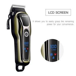 Image 4 - Recarregável Aparador de Pêlos dos homens máquina de Cortar Cabelo Profissional Cabelo Máquina de Barbear Barba Navalha de Corte De Cabelo Elétrico 100 240V 38D