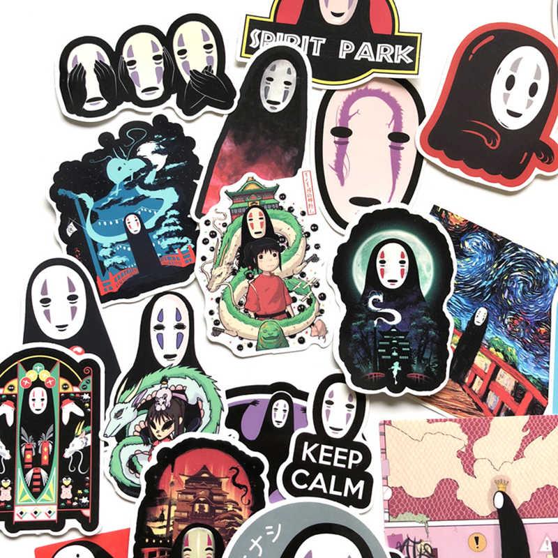 Miyazaki Hayao Anime PVC Anime Tidak Ada Wajah Pria Stiker Faceless Man Notebook Bagasi Decal Kulkas Skateboard Diary Stiker 40PCS