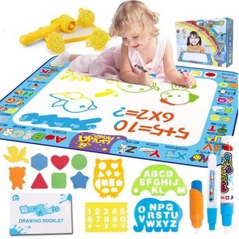 Big Size Water Drawing Mat Rug With Magic Pen Painting Cartoon Kids Colorful Child Education Drawing Carpet Mats Toy