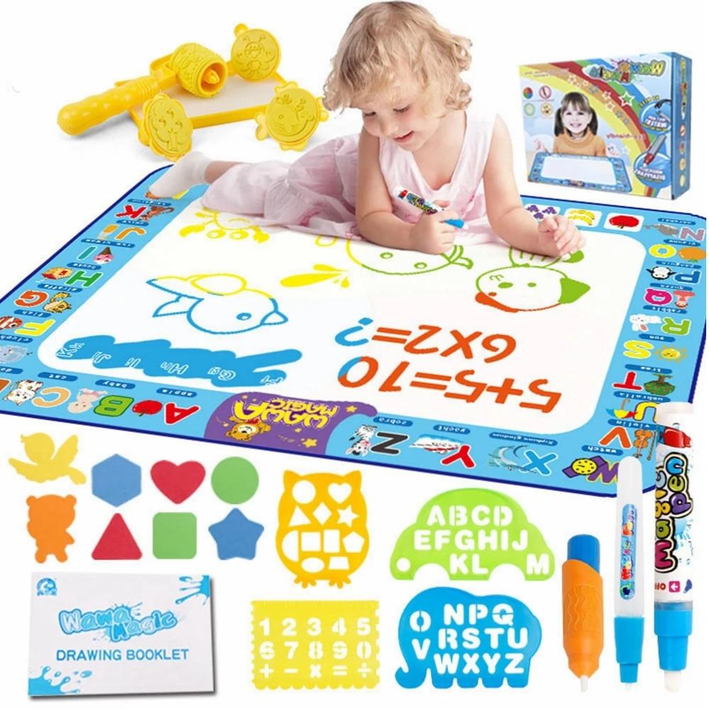 tapis de dessin d eau de grande taille avec stylo magique tapis de dessin colore pour enfants jouet educatif de dessin anime de peinture